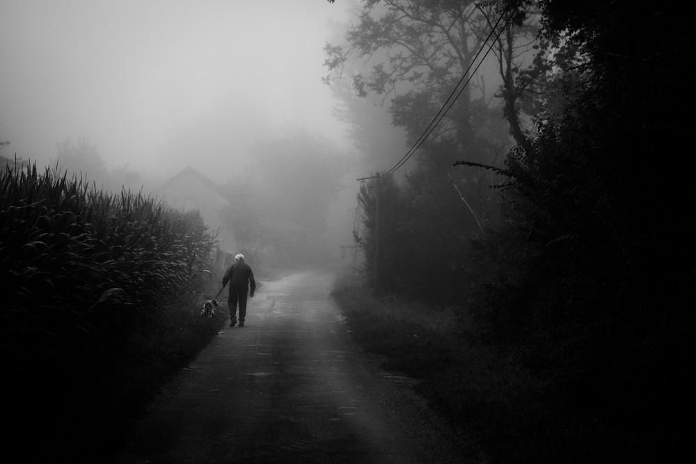 The morning walk.