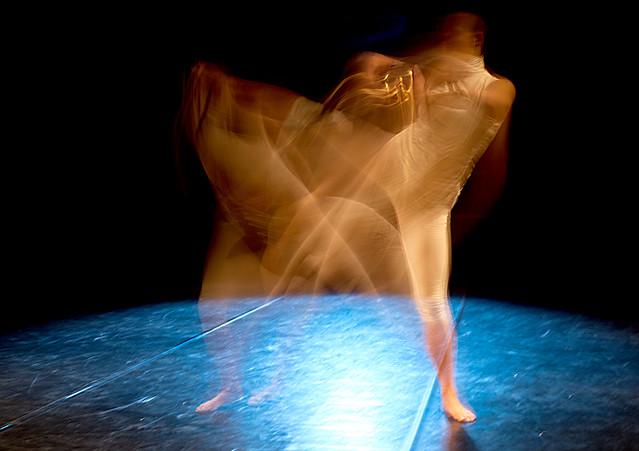 Teil eines Tanzstückes roter Faden