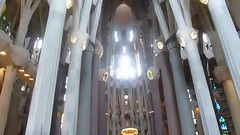 The interior of Sagrada Familia