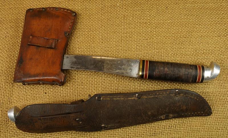 RD14019 Vintage Western Knife & Hatchet Combo Boulder, Colo. DSC05366