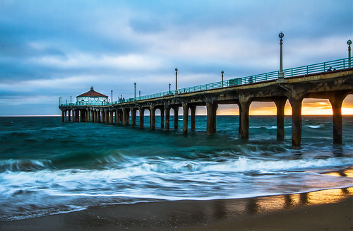 california sunset seascape losangeles manhattanbeach 2470mm manhattanbeachpier canon7d ©shabdrophoto