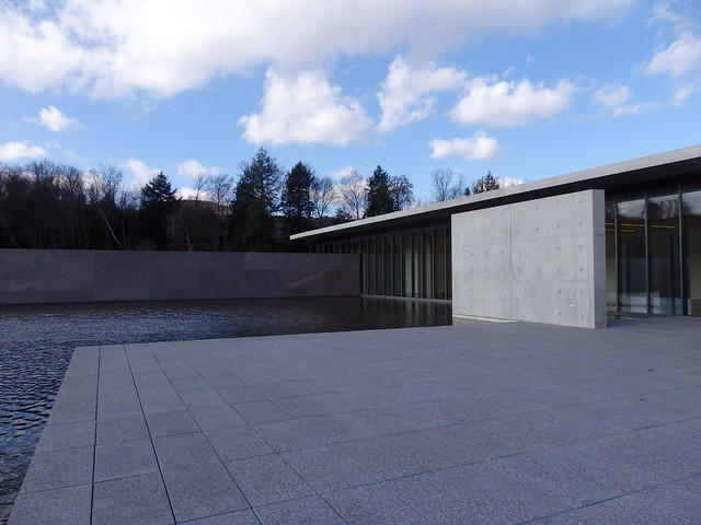 The terrace and reflecting pool, The Clark Center