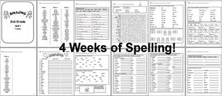 Spelling - 2nd Grade - Unit 1 4 Weeks | by CHSH-Teach