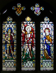 St Michael flanked by St Martin and St Elizabeth of Hungary