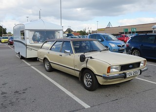 1979 Ford Cortina 2.0 Ghia and 1972 Bessacarr Caravan | by Spottedlaurel