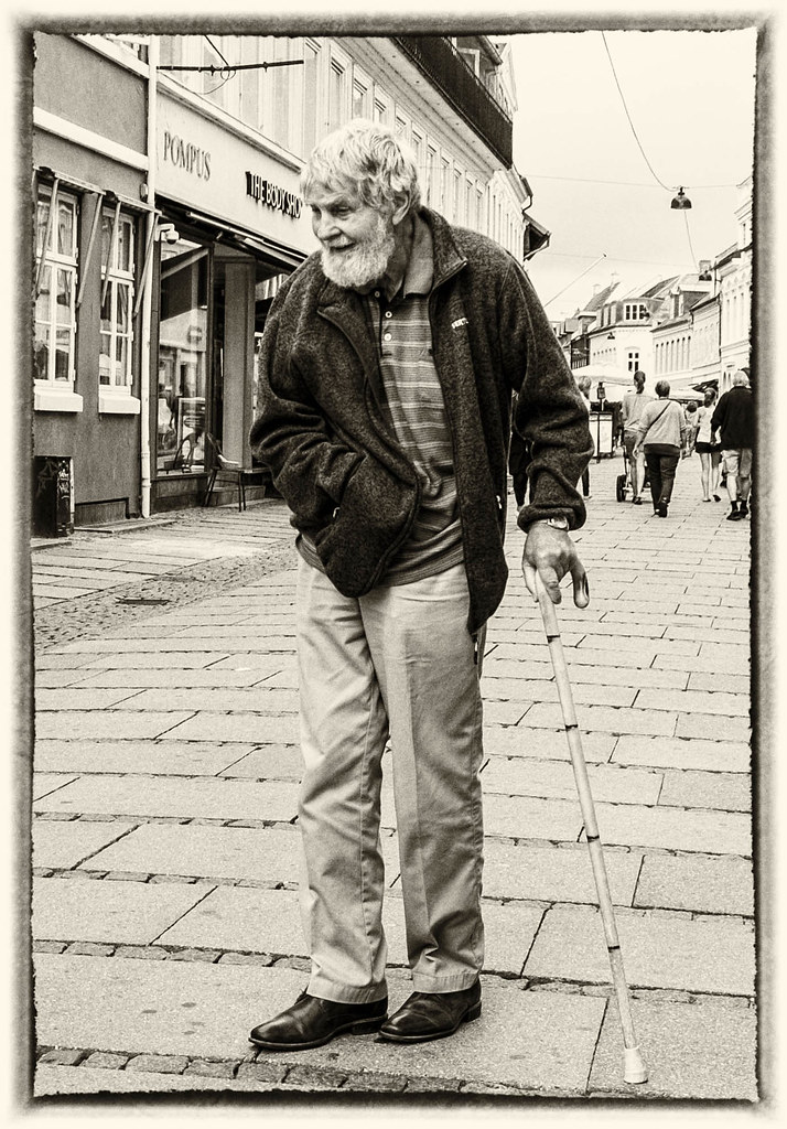 Old man in the street