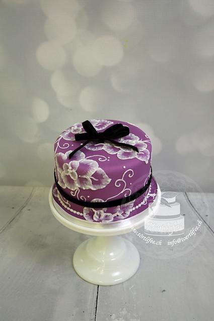 Purple Lace Cake