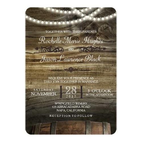 Rustic Winery Wedding Invitation Aged Alcoholic Bar Flickr