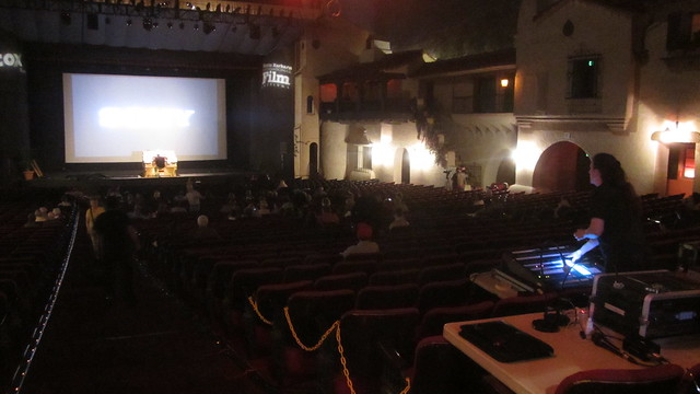 IMG_0983 31st Santa Barbara film festival Arlington theatre organ before Robin Hood