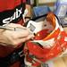 Vedle vytažení skeletu je další možnou úpravou vybroušení tlačícího místa speciální frézkou., foto: Ski a Bike Centrum Radotín