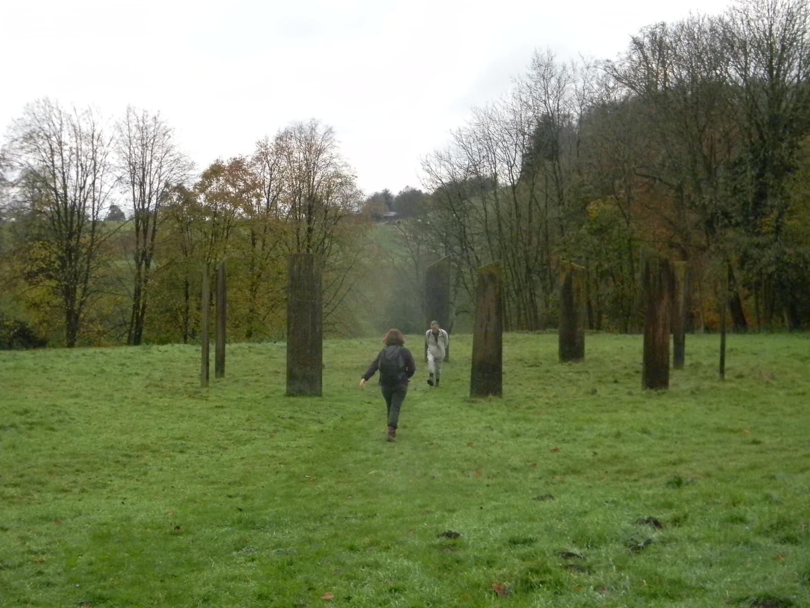 Millennium stones - strange goings on Merstham to Tattenham Corner