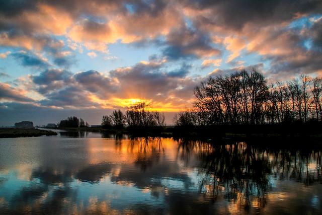 Sunrise and sky mirror