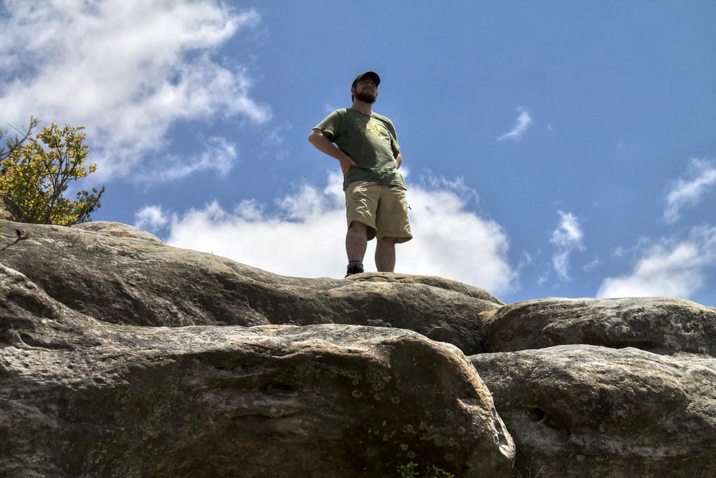 Twin Arches overlook, Chuck Sutherland, Big South Fork NRRA, Scott Co, TN