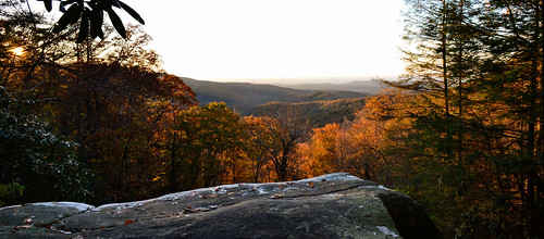 camping sunset panorama mountain fall colors creek landscape outdoors waterfall nikon scenery hiking trails panoramic falls east foliage climbing trail backpacking wilderness panther cohutta cowpen d3100