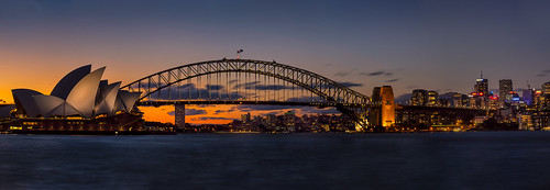 architecture australia bridge capitalcity centralbusinessdistrict city citylandscape cityscape dusk evening harbourbridge leisurebuildings newsouthwales operahouse panorama skyline sunset sydney sydneyoperahouse theater urbanscape