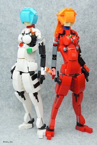 Asuka and Rei  Plug Suit