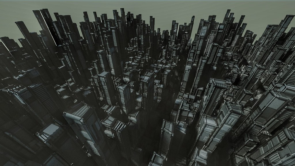 Procedural City made using Blender3D and Sverchok Add On