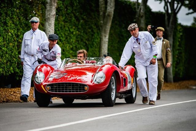 Ernst Schuster and Christoph Rendlen - 1957 Ferrari 500 TRC Spider Scaglietti at the 2016 Goodwood Revival (Photo 2)