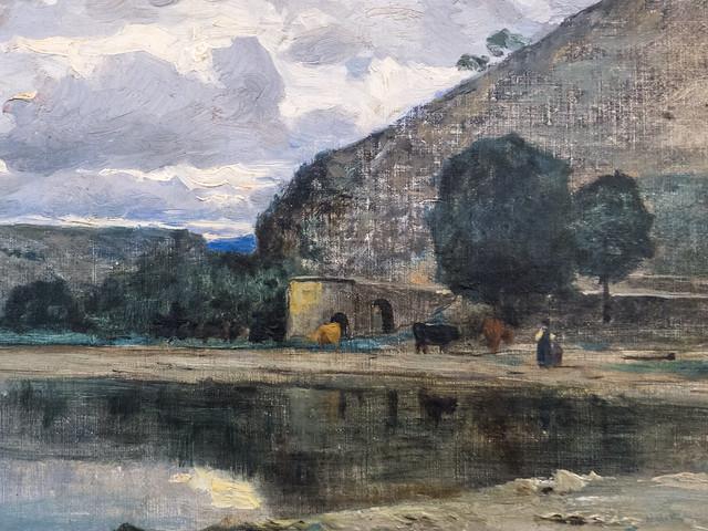 Adolphe Appian (Lyon, 1818 - Lyon, 1898), Paysage, dét., musée des Beaux-Art de Chambéry (Savoie, France)