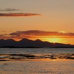 6. September 2008 - 19:02 - Rum sunset from wild camp near Morar