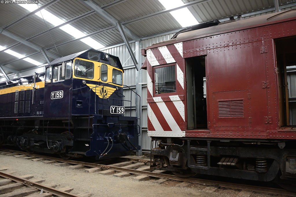 Y159 and 63RM in the shed by James Brook