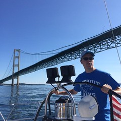 Stripes, Evan passing Mackinaw bridge