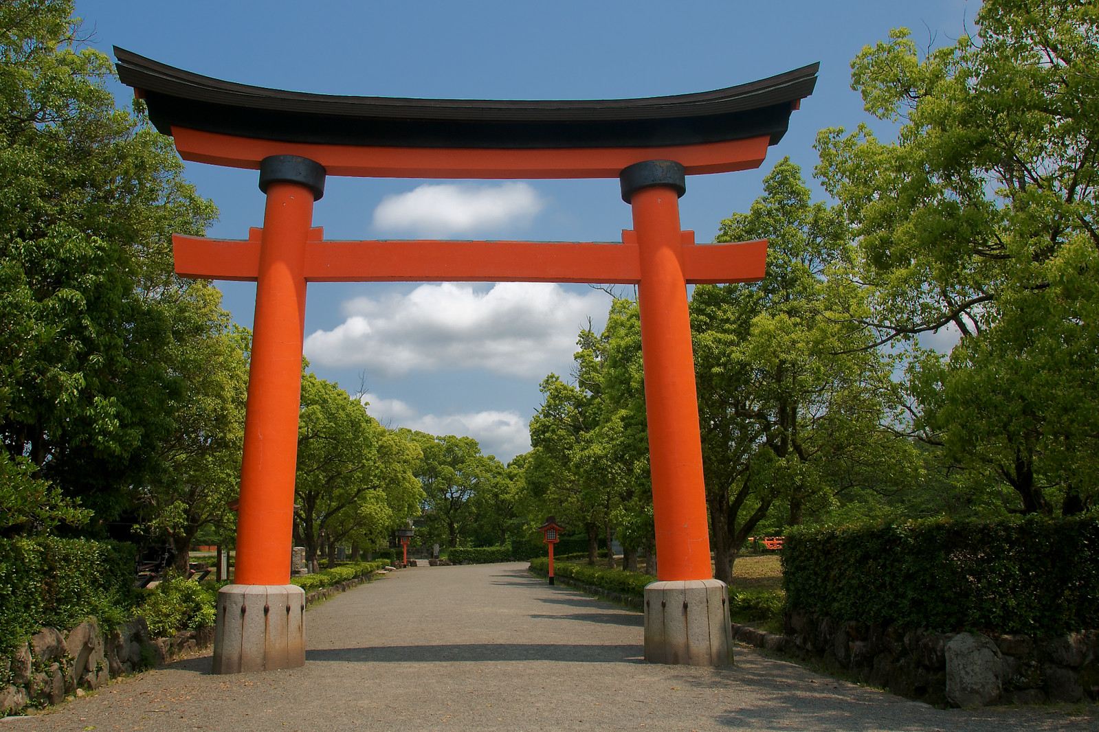 A torii gate of Usa Jingu