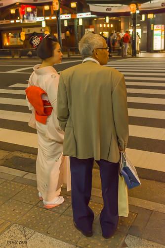 Geisha with friend | by i-lenticularis