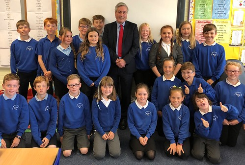 Visiting Gullane primary school | by Iain Gray MSP