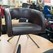 E159 leather club chair