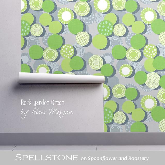 Rock Garden Green by Alex Morgan