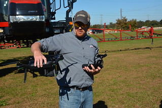Dave Wharry demonstrates drone use