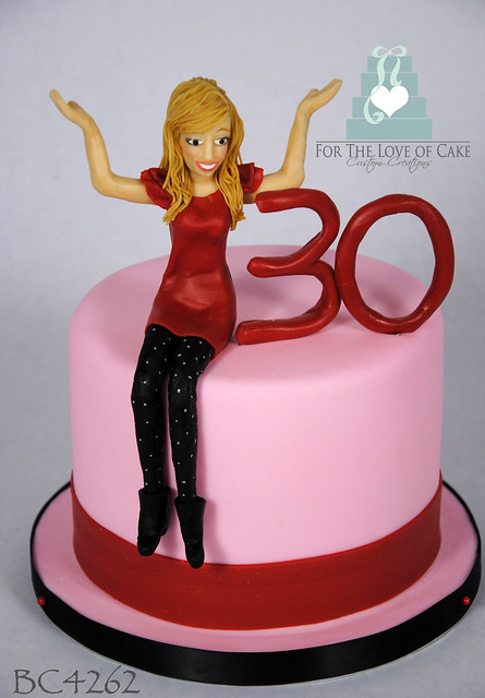 BC4262-pink-30th-birthday-cake-toronto-oakville