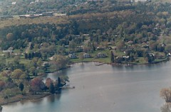 Aerial view of Spencer Creek