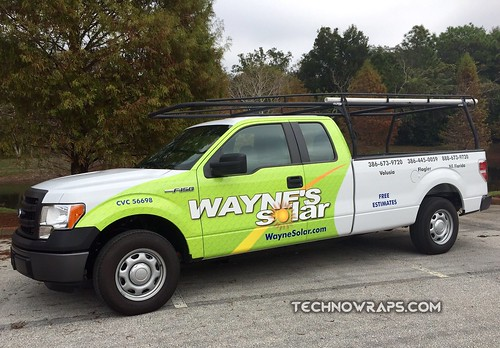 Partial truck wrap by TechnoSigns in Orlando