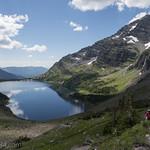 Lake Ellen Wilson from Gunsight Pass