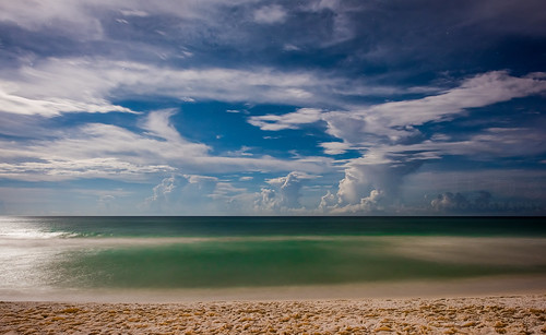 florida seaside miramar rosemary longexposure bluemountain grayton watercolor night sea ocean seascape scene beautiful clouds stars starry surreal nikon d810 24mm 14g jld3 photography moon moonlit moonshadow outdoor smooth sand beach