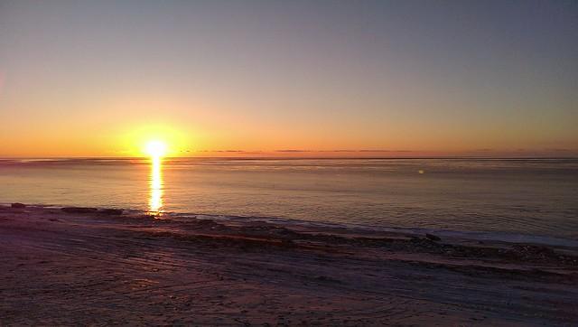 Bering sea sunrise, 12:15pm, 12/11/14