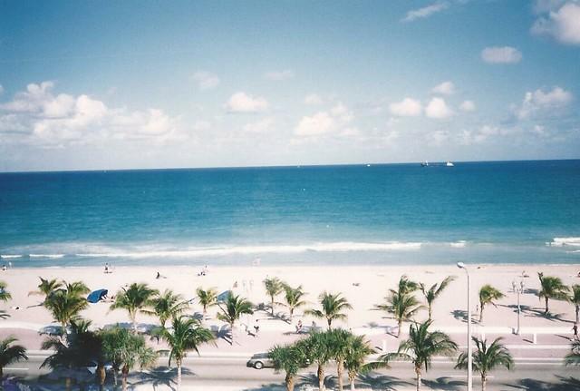 Vista de Playa de Fort Lauderdale/View of  Fort Lauderdale Beach, Florida, USA - www.meEncantaViajar.com