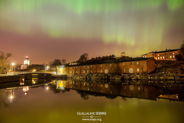 Auroras over Suomenlinna, Helsinki