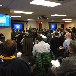 Packed house for #GISMOnyc's agency GIS forum. I hope to see all of this as NYC #opendata!!