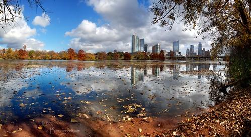lake fall skyline austin river downtown texas tx trail hikeandbike runningtrail ladybirdlake butlertrail