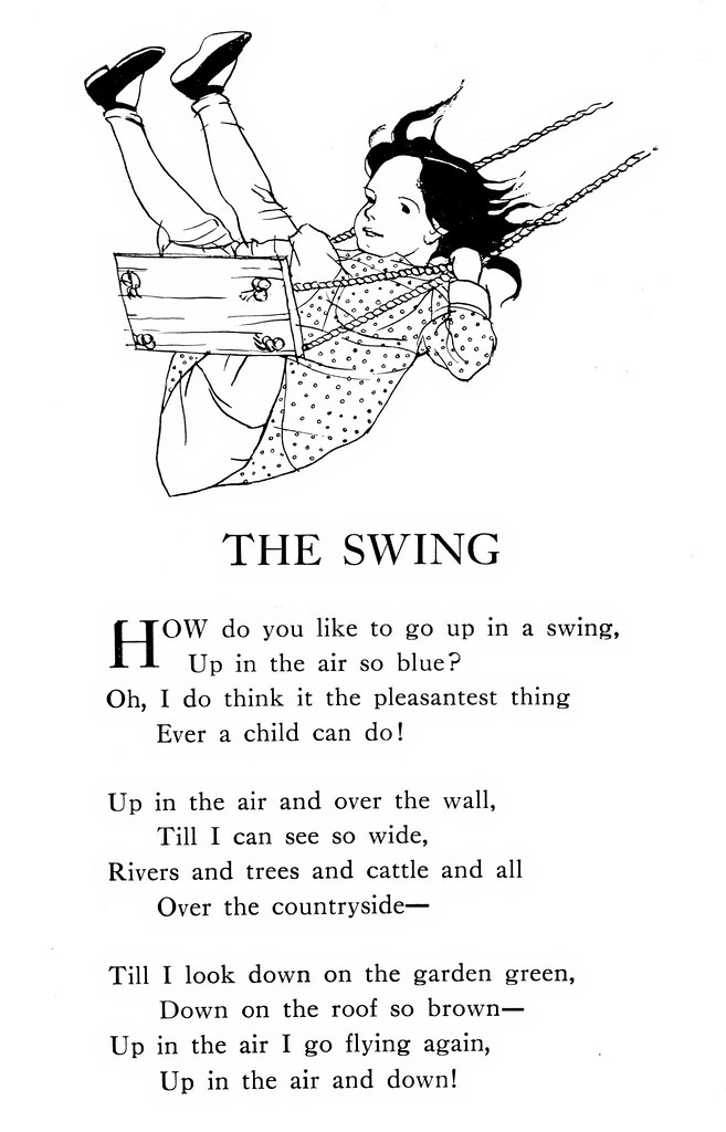 The Swing Poem A Child S Garden Of Verses By Robert Loui