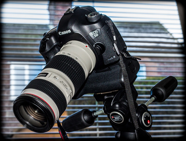 Canon 5d iii and 70-200mm f4 non IS zoom l-series lens.