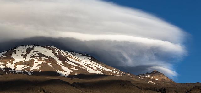 Clouds gathering over Ruapehu