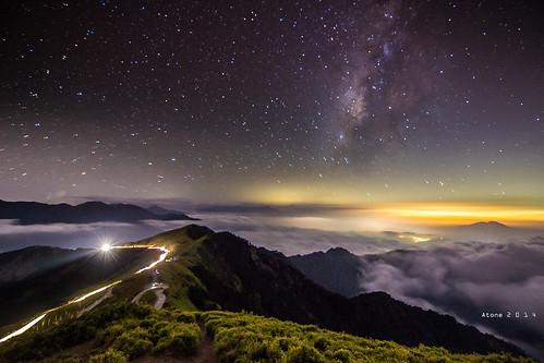 canon landscape star taiwan resort tokina f28 cpl 合歡山 雲海 昆陽 hehuanshan atone f28l 1116 600d 合歡主峰 銀河 合歡山主峰 車軌 昆陽停車場 合歡山銀河 銀河車軌