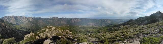 Panoramique 180° de la vallée du Cavu