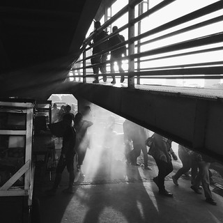 Mono city / shadows and smoke | by 'Barnaby'