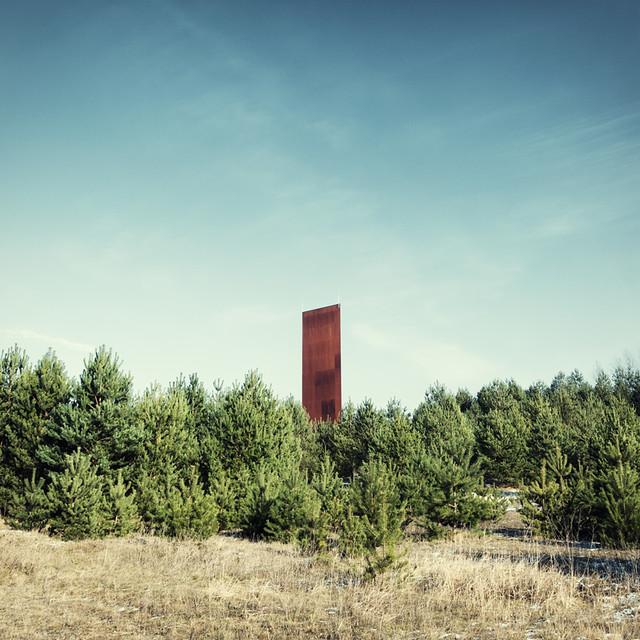 Landmark With Pines