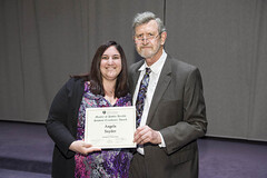 Emergency Preparedness Student Excellence Award presented to Angela Snyder by Bill Spears